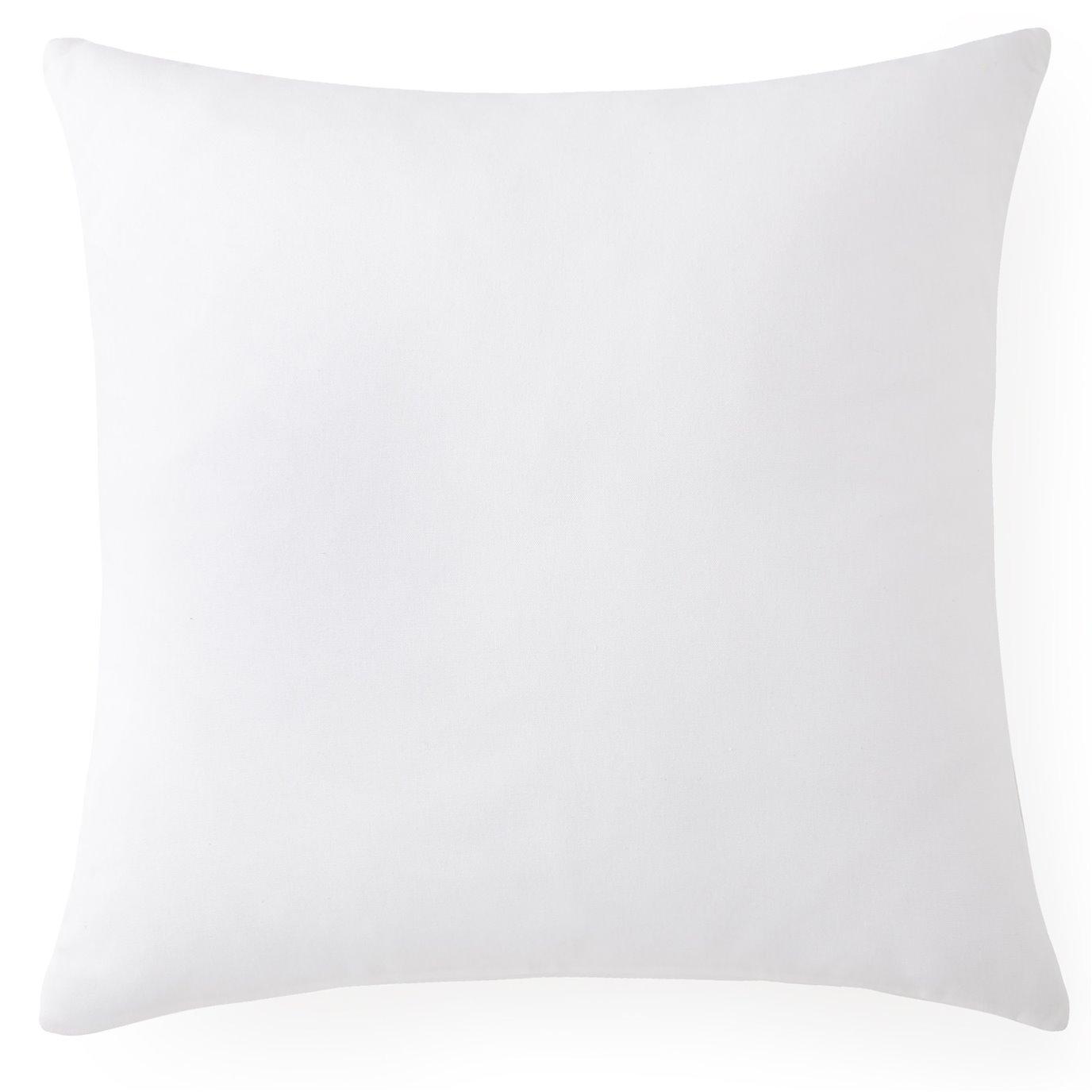 "Seascape Square Cushion 18""x18""- Solid White"