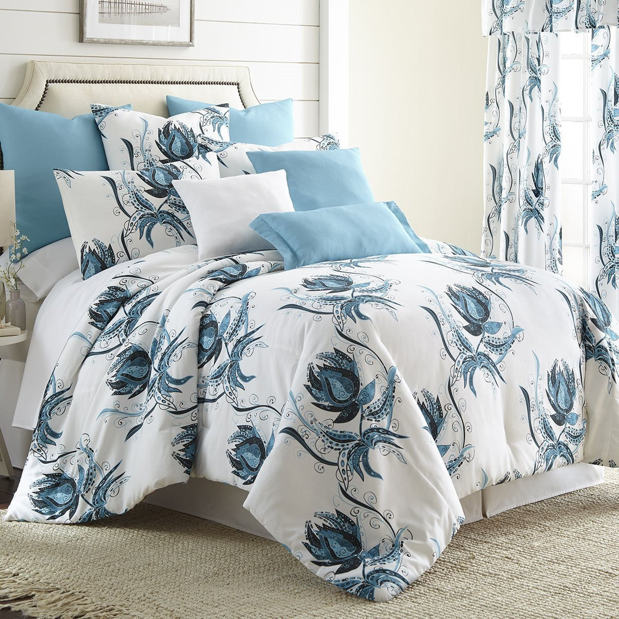 Seascape Comforter Set  Queen