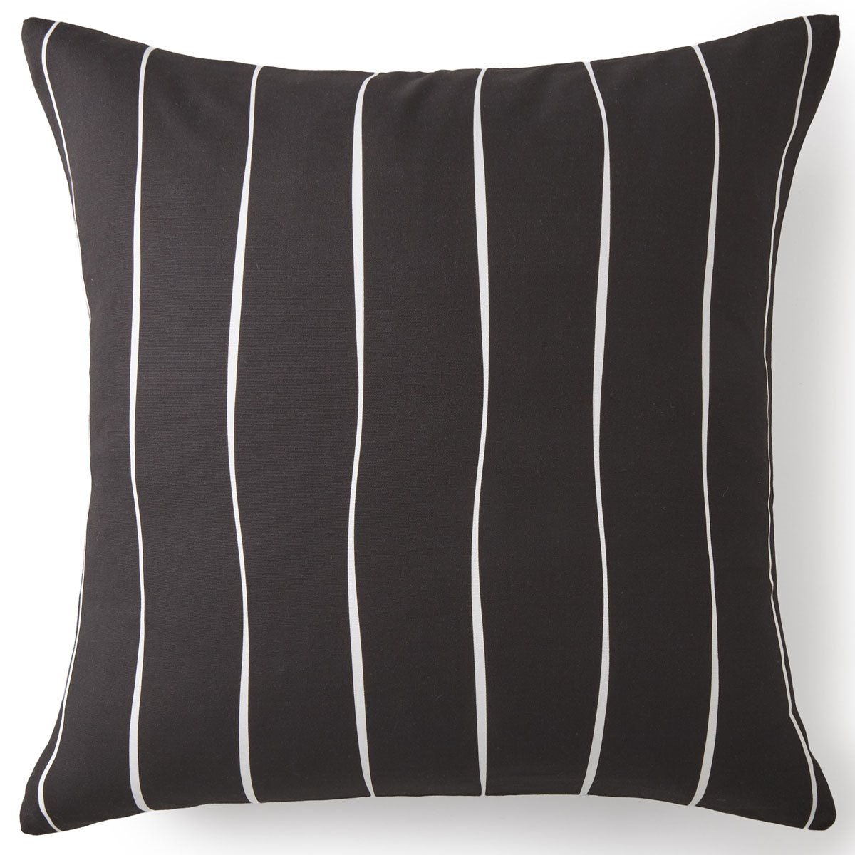 Toile Back In Black Euro Sham - Black & White Stripe