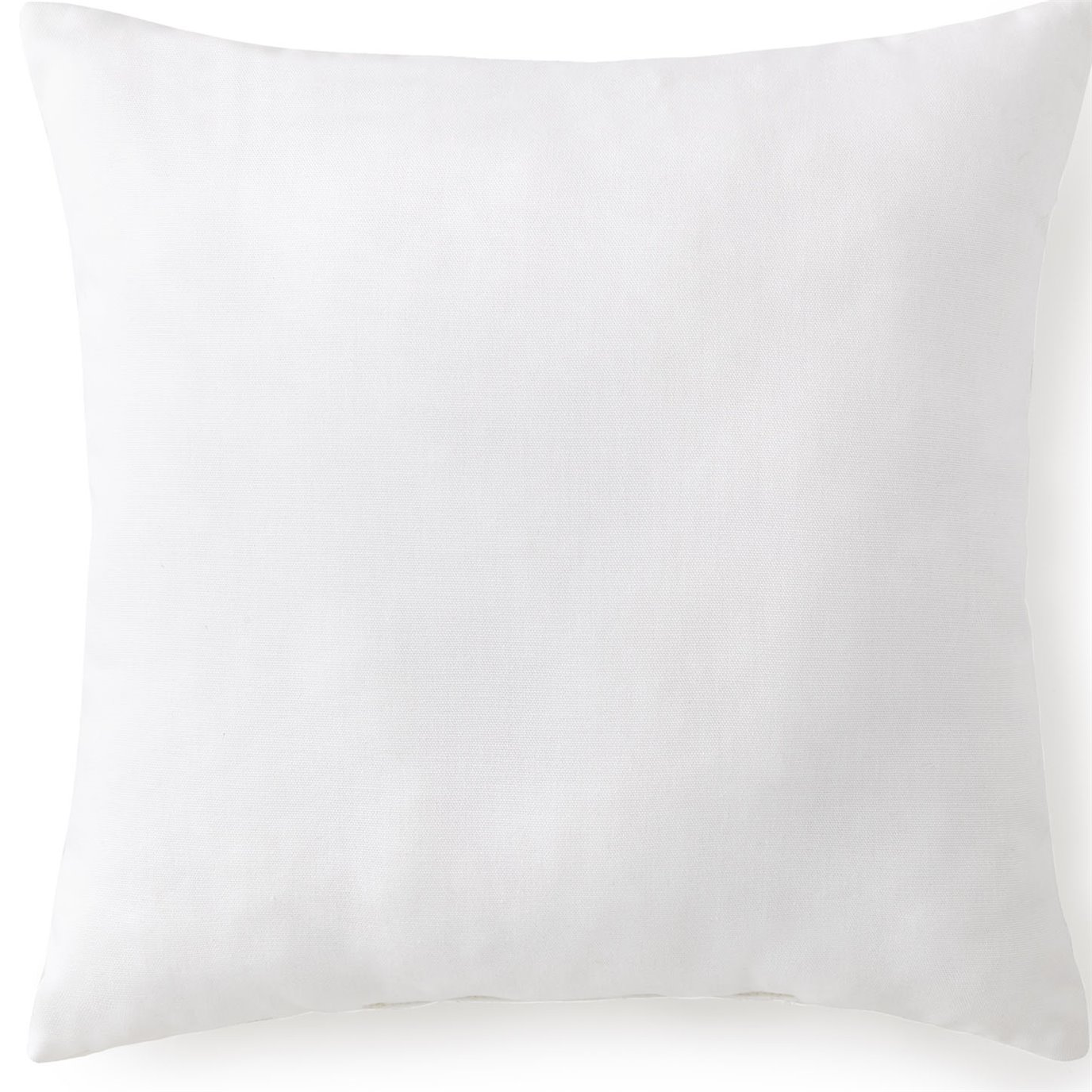 "Tropical Bloom Square Cushion 18""x18"" - Solid White"