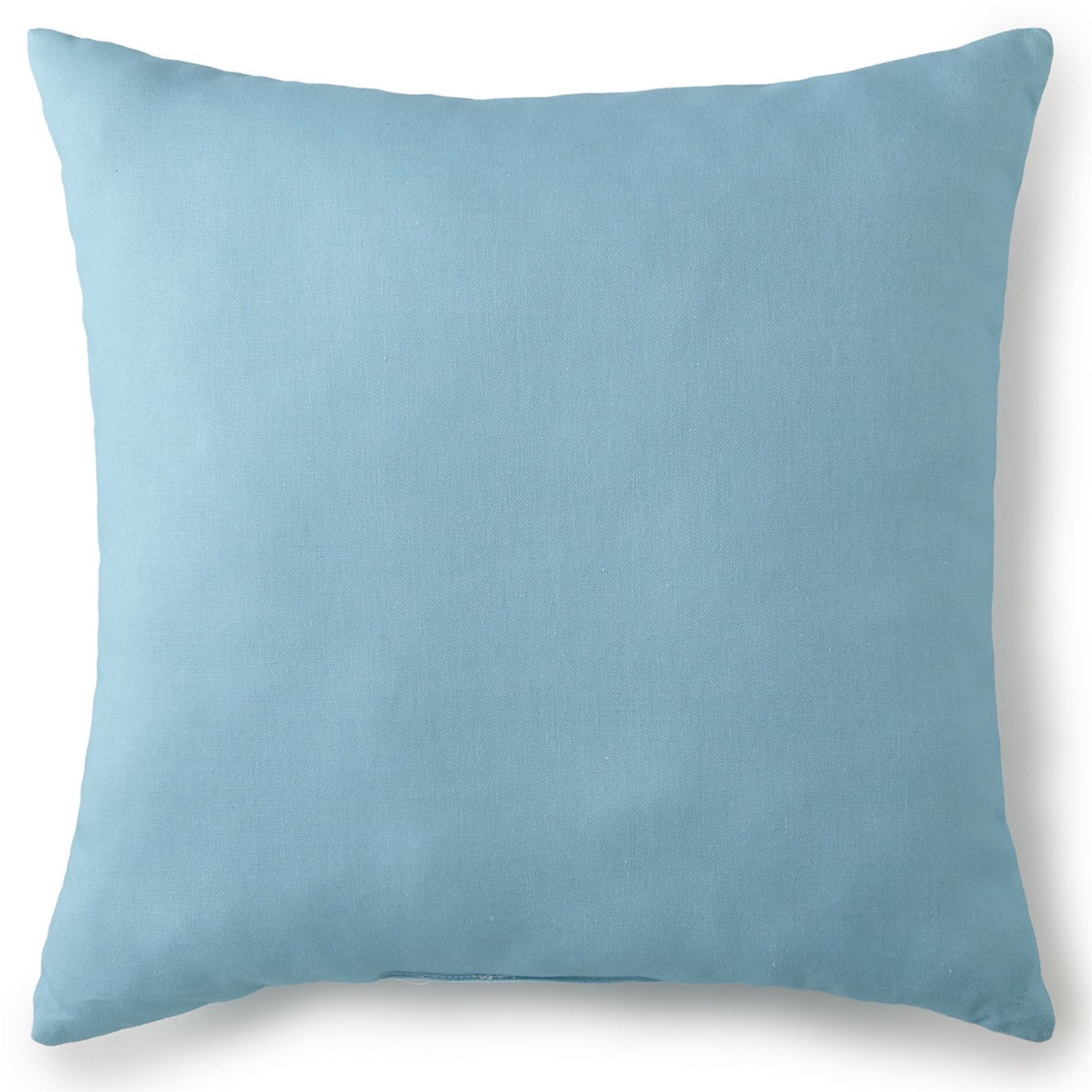 "Tropical Bloom Square Cushion 20""x20"" - Solid Aqua"