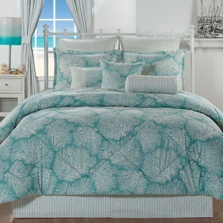Tybee Island Queen size 4 piece Comforter Set