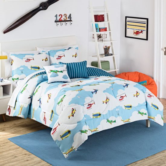 Waverly Kids In the Clouds Reversible Twin Size Comforter Set