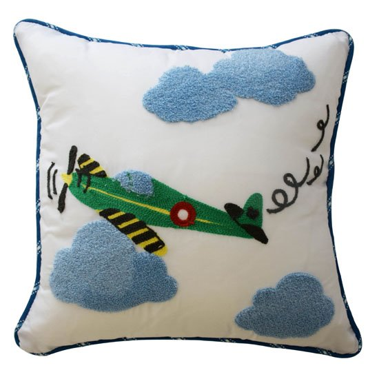 Waverly Kids In the Clouds Airplane Decorative Pillow