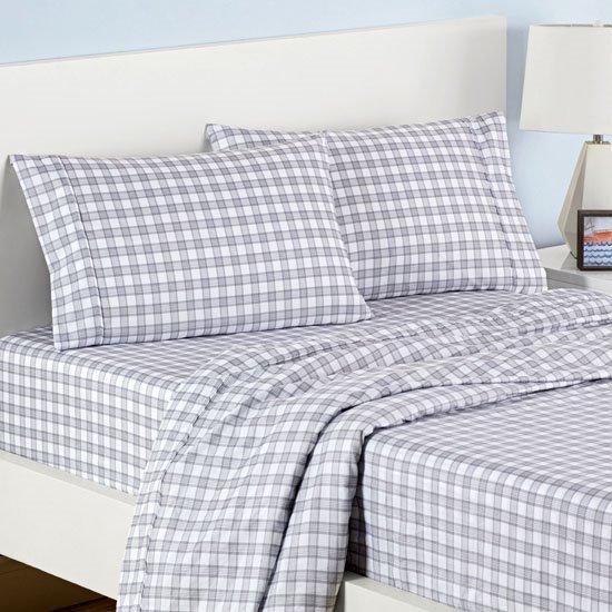 Waverly Kids Norfolk Plaid Grey Sheet Set Twin Size