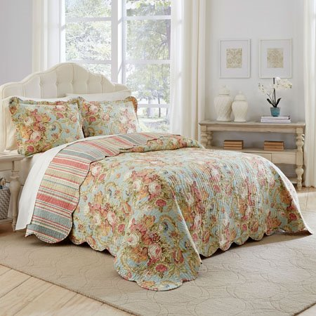 Waverly Spring Bling 3 Piece Queen Bedspread Set