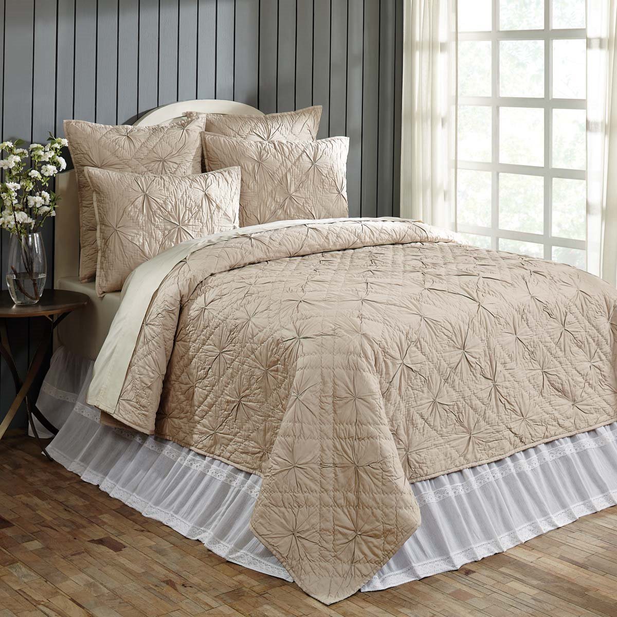 Aubree Taupe Queen Quilt