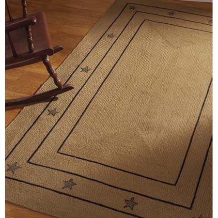 Burlap Star Rectangular 22 X 72 Rug