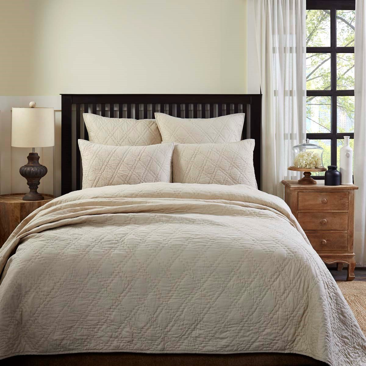 Casey Taupe Queen Quilt
