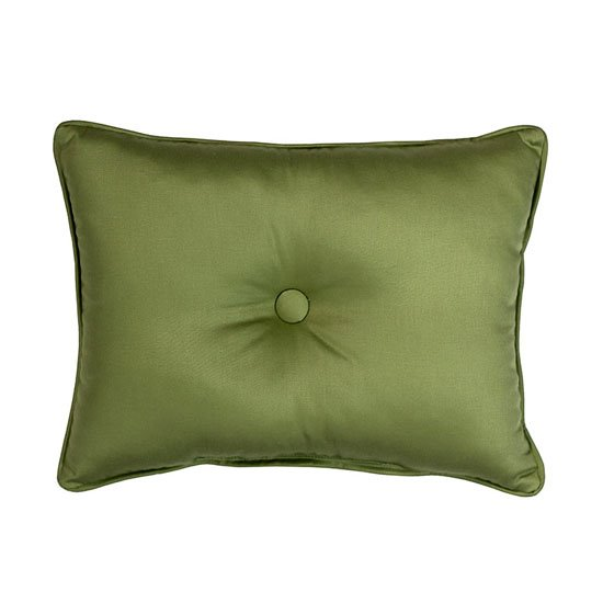 Cayman Breakfast Pillow in Solid Green