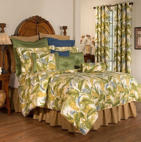 "Cayman Queen Thomasville Comforter Set (15"" bedskirt)"