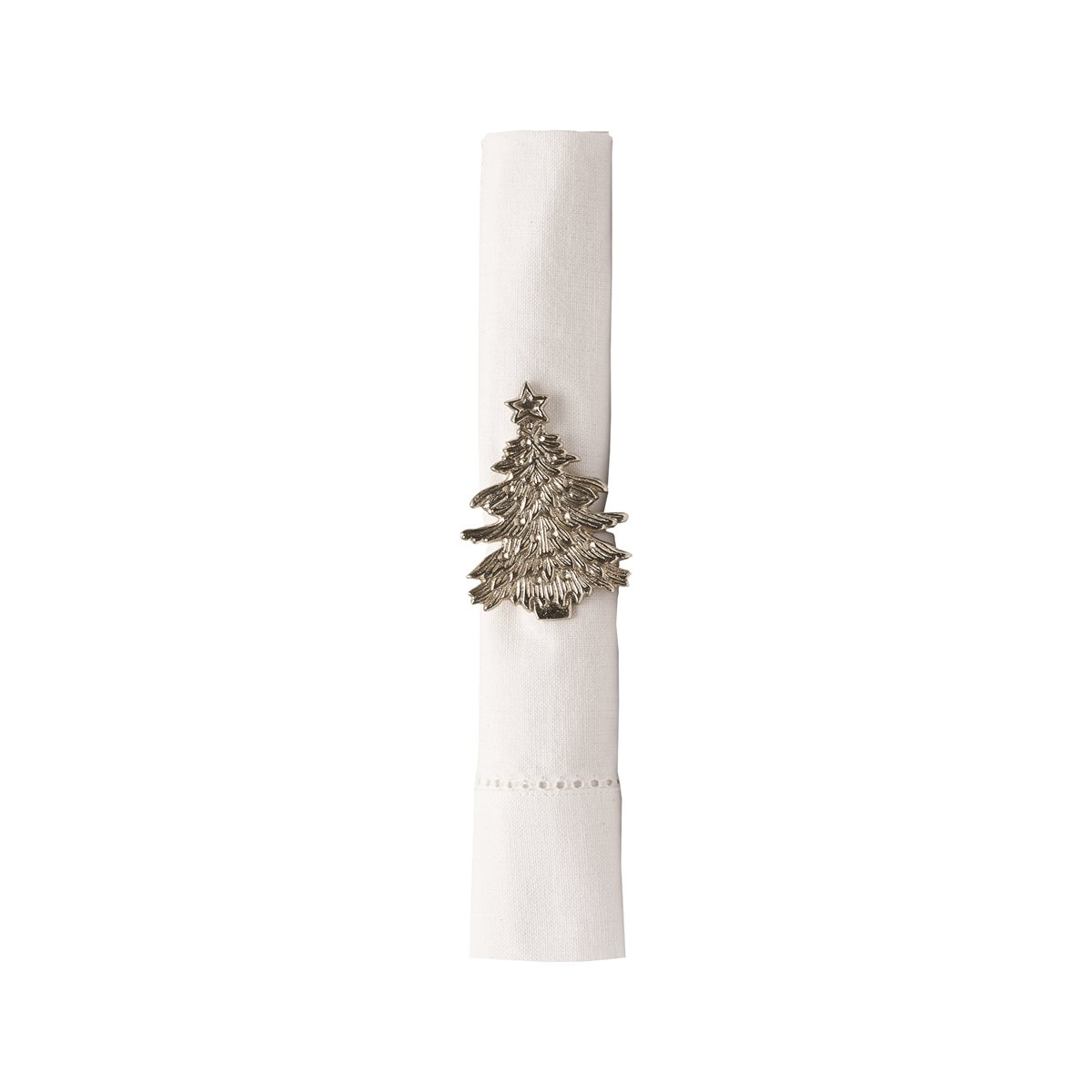 Silver Christmas Tree Napkin Ring