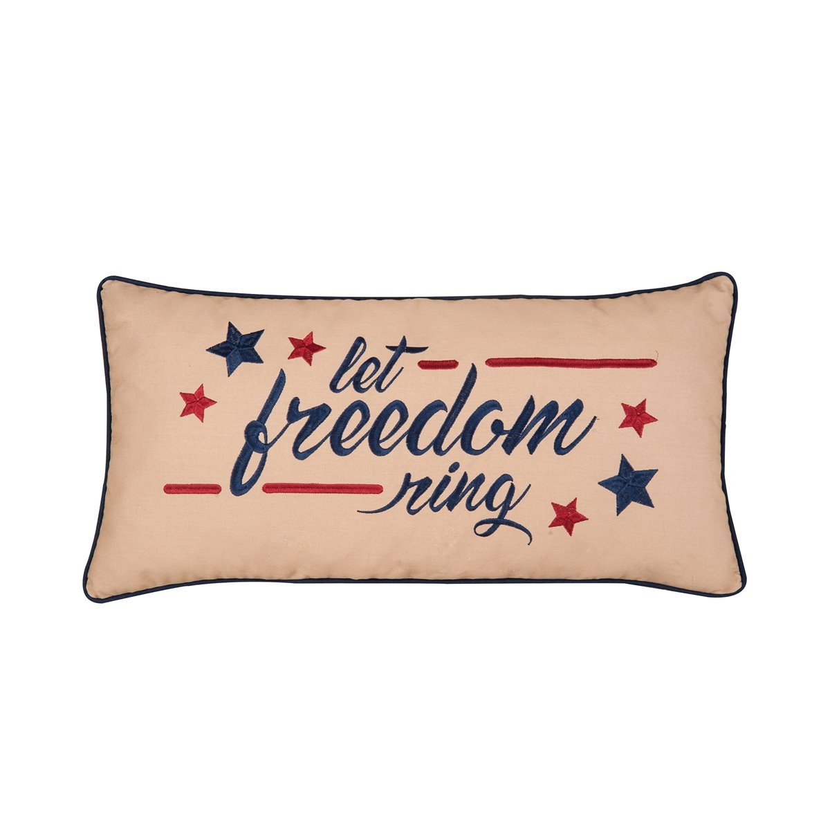 Levi Freedom Embroidered Pillow