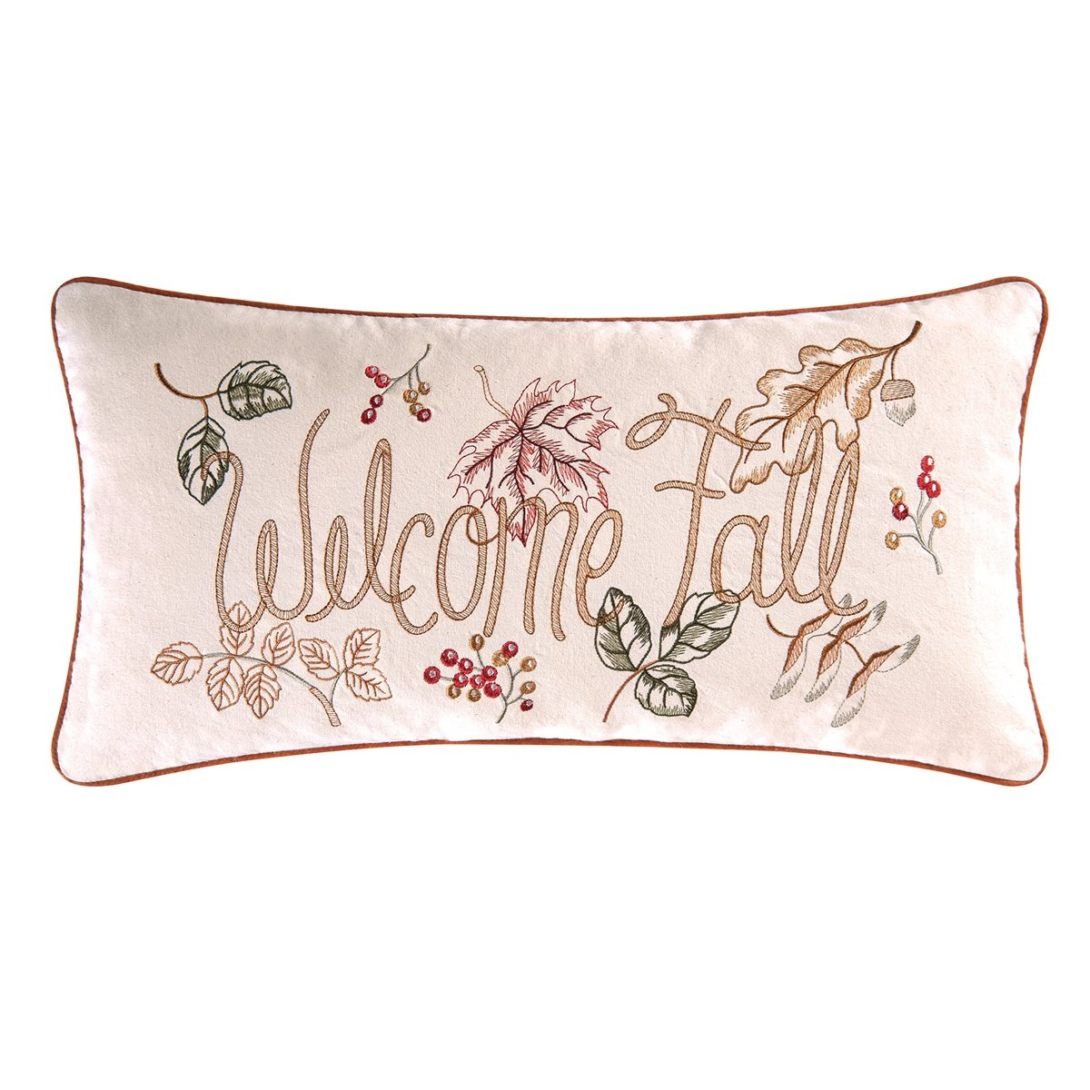 Amison Welcome Fall Embroidered Pillow
