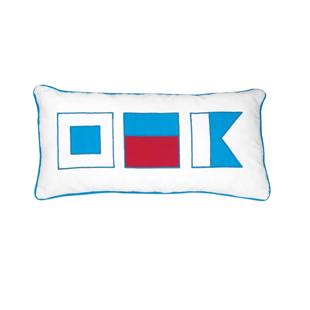 Windward Port Applique Flags Pillow