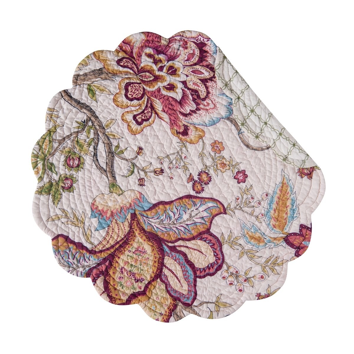 Bethany Round Quilted Placemat