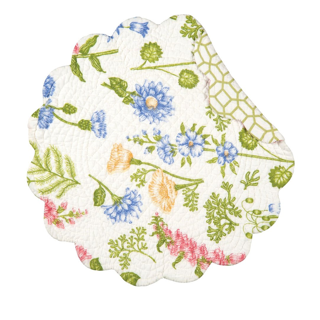 Jeanette Round Quilted Placemat
