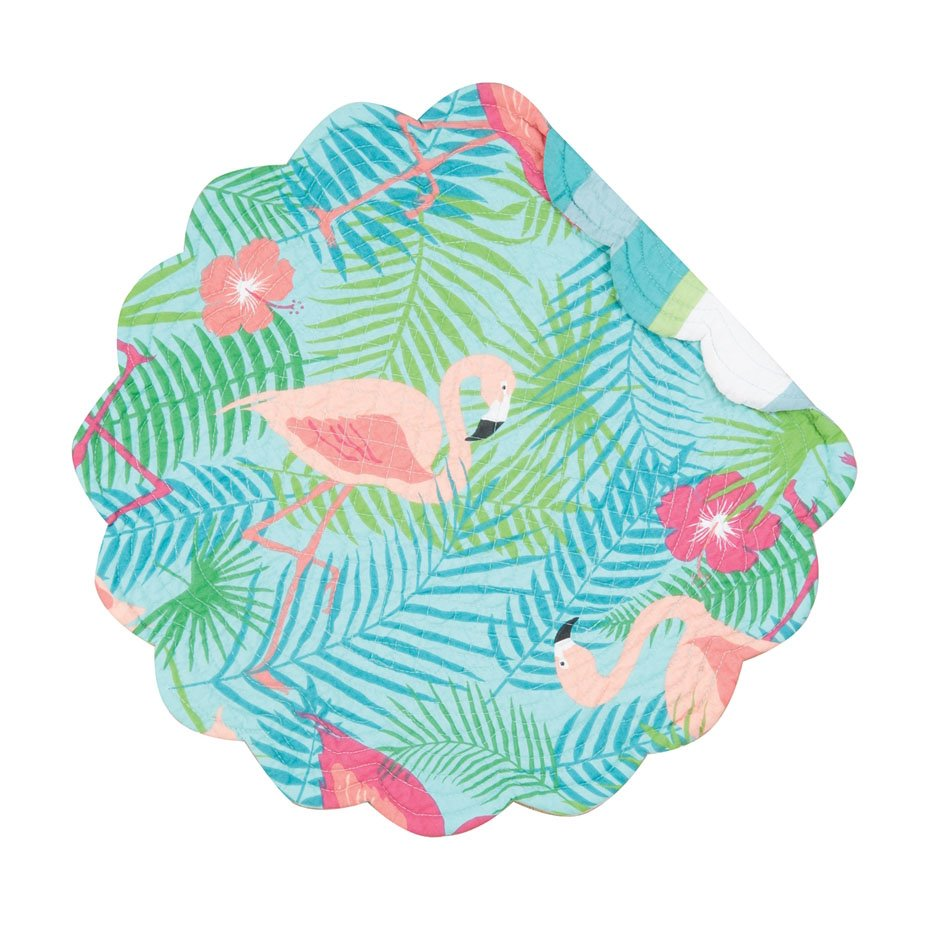 Isla Tropics Round Quilted Placemat