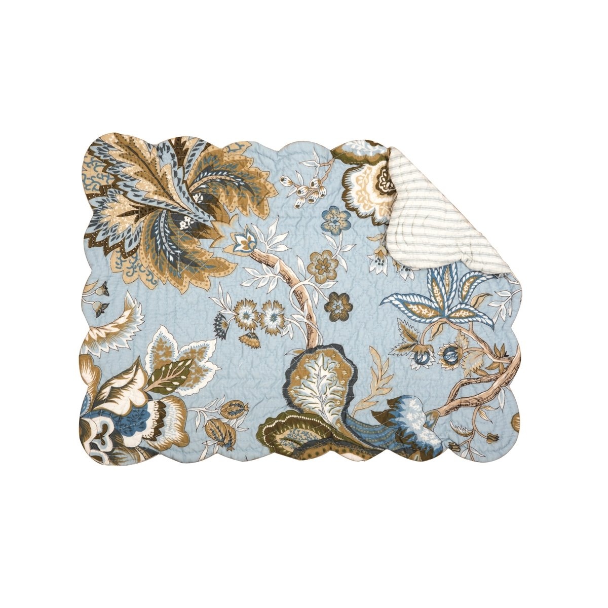 Bethany Blue Rectangular Quilted Placemat