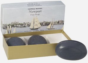 Caswell-Massey Newport Soap set (Vintage boat box)