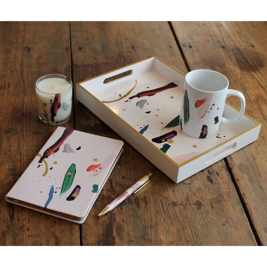 Mug, Candle, Tray, Pen and Journal Jazz Gift Set