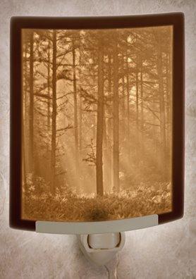 Woodland Sunbeams Night Light by Porcelain Garden