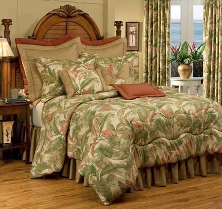 "La Selva Natural Queen Thomasville Comforter Set (18"" bedskirt)"