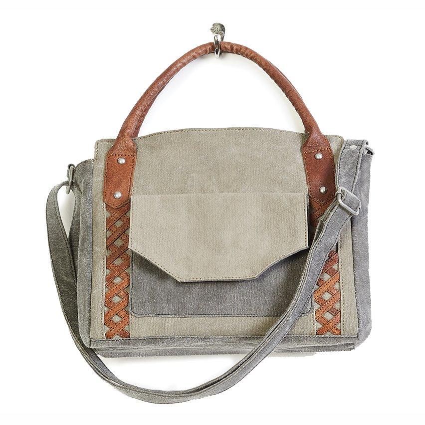 Mona B. Dolce Canvas Shoulder Bag