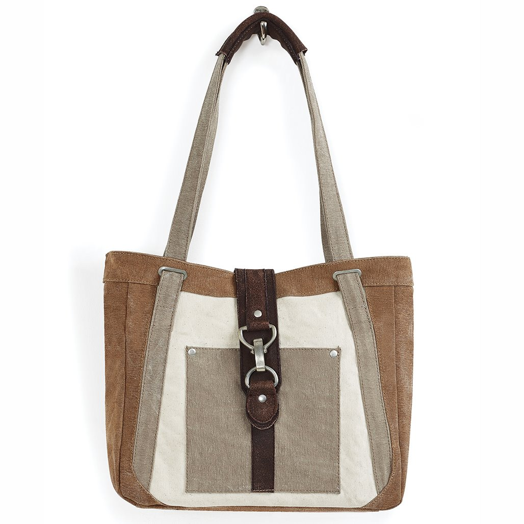 Mona B. Nora Dijon Canvas Shoulder Bag