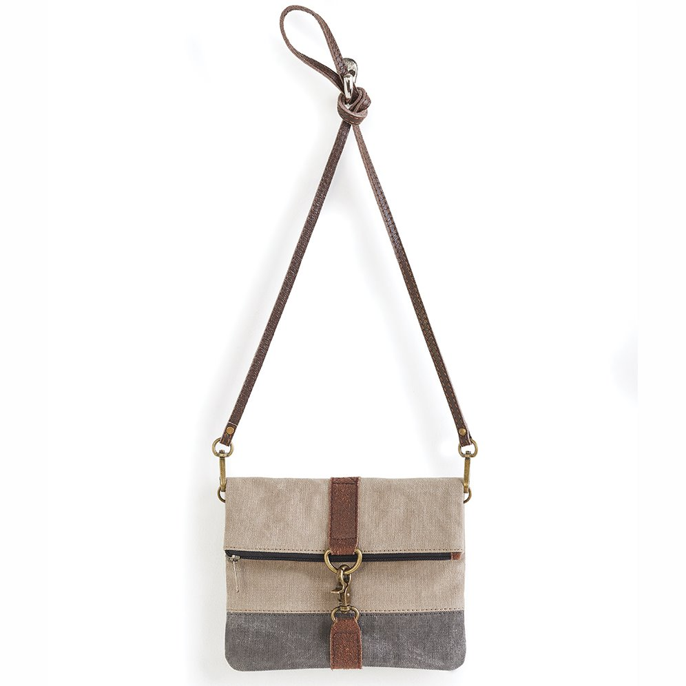 Mona B. Finley Stone Fold-over Crossbody Bag