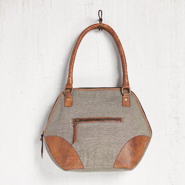 Mona B. Carlee Canvas Shoulder Bag