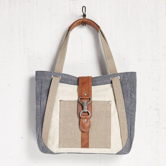 Mona B. Nora Cambridge Canvas Shoulder Bag