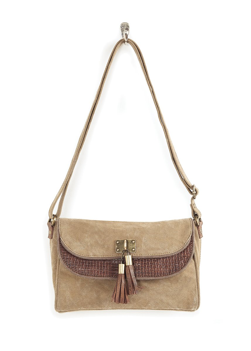Mona B. Sloan Canvas Crossbody Bag