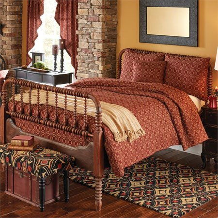 "Campbell Wine Coverlet Bedspread 94"" x 108"""