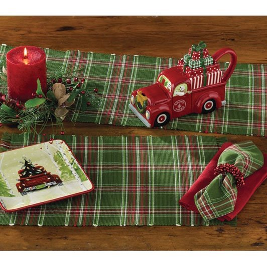 Wintergreen Plaid Placemat