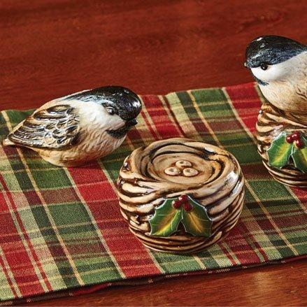Winter Bird and Nest Salt & Pepper Set