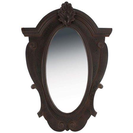 Ornate Wood Mirror Black by Split-P