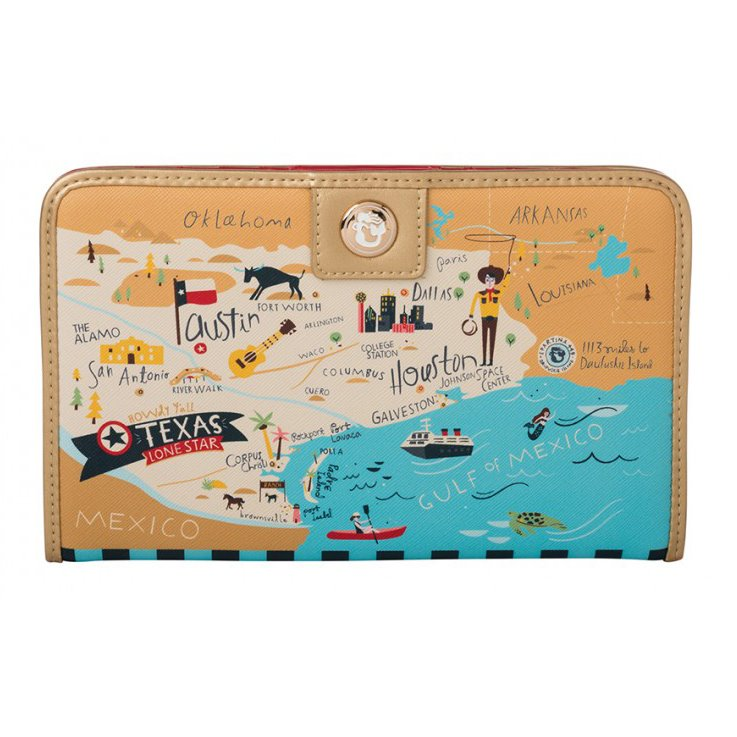 Spartina 449 Greetings from Texas Snap Wallet