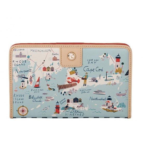 Spartina 449 Northeastern Harbors Snap Wallet
