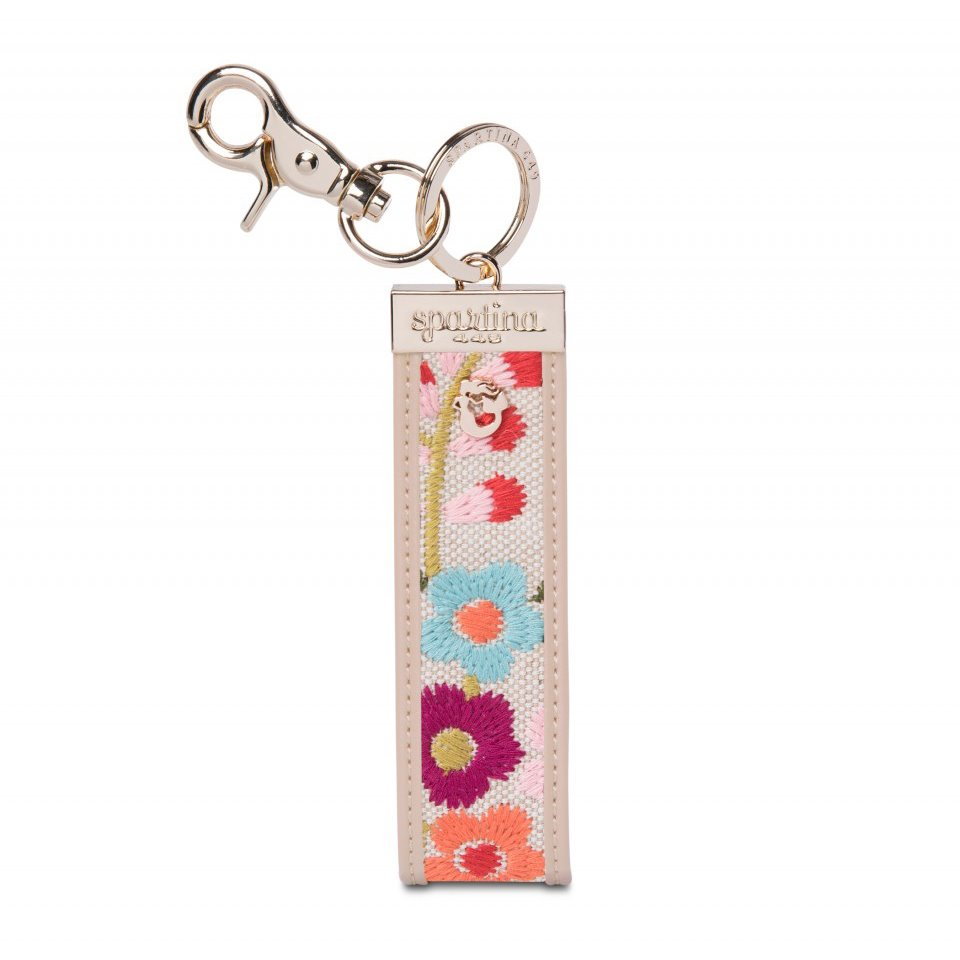 Spartina 449 Cordelia Blossom Embroidered Grab-n-Go Keychain
