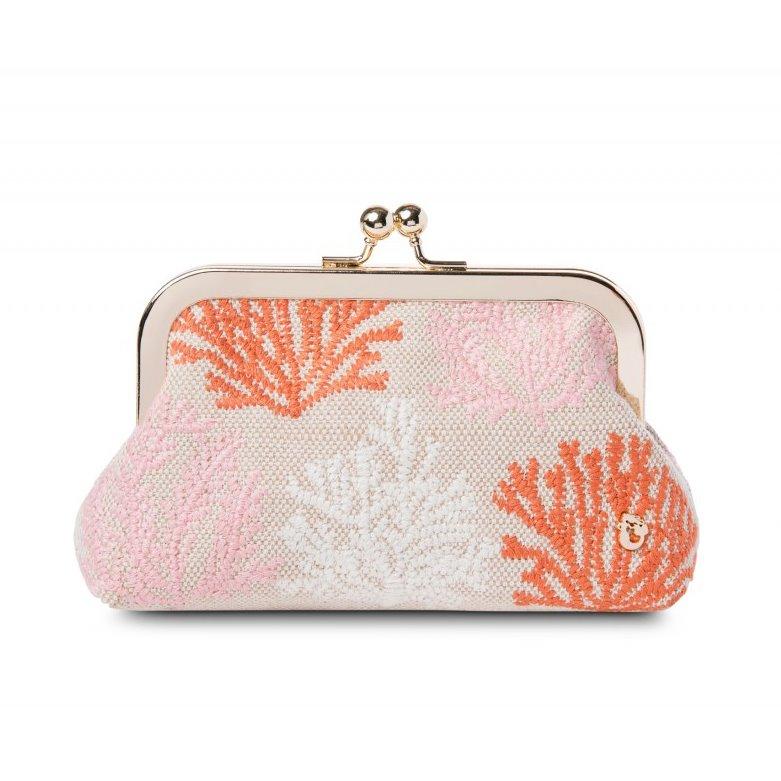 Spartina 449 Cordelia Coral Embroidered Coinpurse