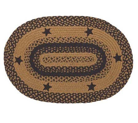 Star Black 27 X 48 Rug Oval