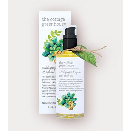 The Cottage Greenhouse Wild Ginger & Agave Dry Body Oil