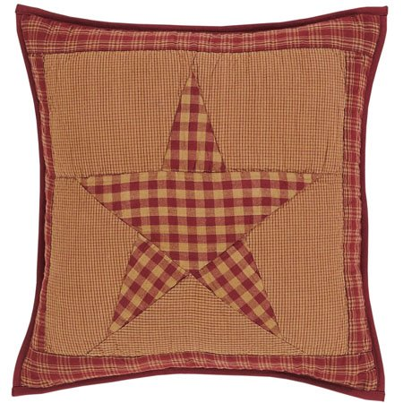 """Ninepatch Star 16"""" Quilted Pillow"""