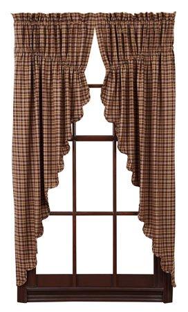"Prescott 63"" Scalloped Prairie Curtains"