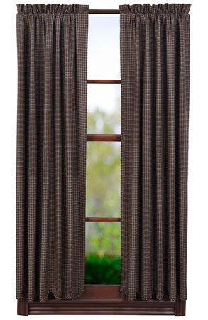 "Kettle Grove 63"" Plaid Scalloped Short Panels"