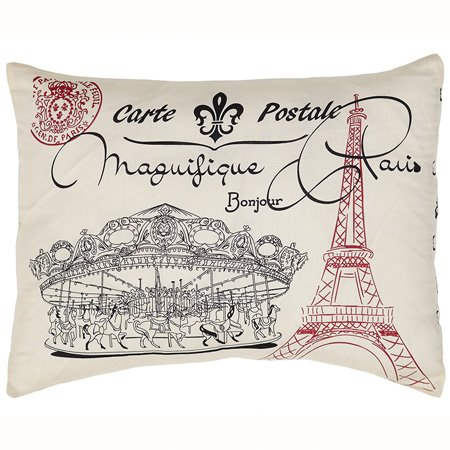 Elysee Stenciled Paris Pillow
