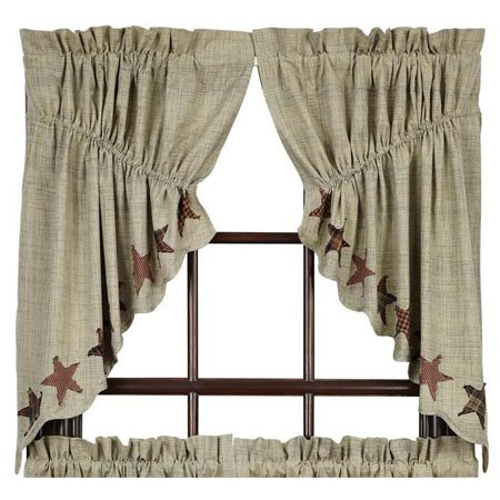 Abilene Star Prairie Swag Set of 2 36 x 36