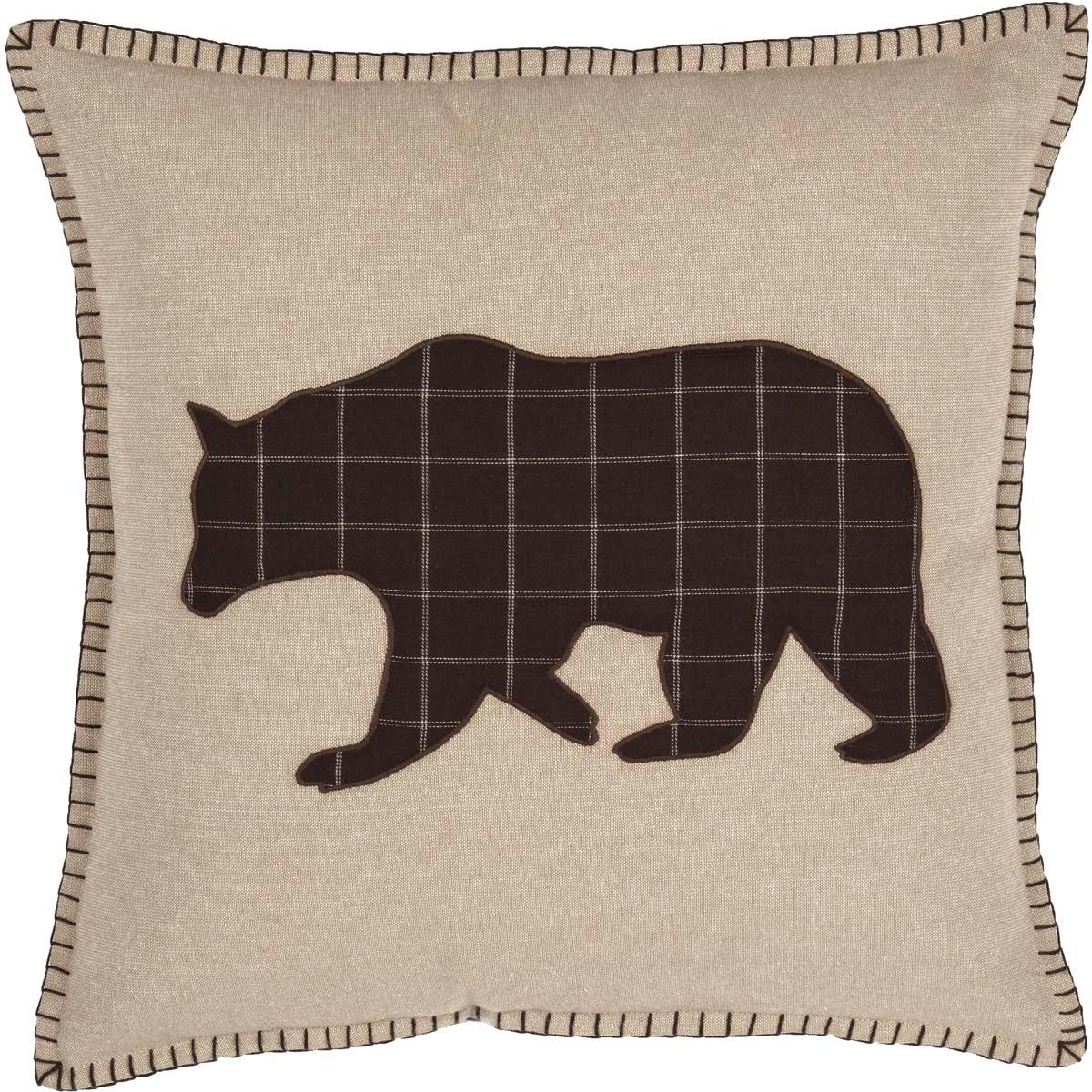 Wyatt Bear Applique Pillow
