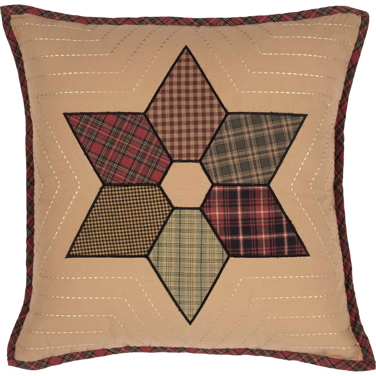 Tea Star Patchwork Pillow